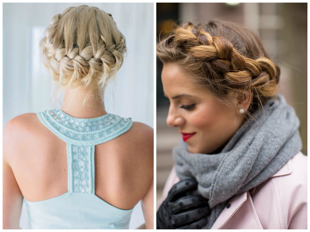 Crown braid can be made backwards and forwards.